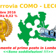 La ferrovia Como-Lecco è statala PEGGIORE DI TUTTA LA REGIONE LOMBARDIA anche nelmese di settembre 2016.Idati pubblicati da Trenord e Regione Lombardia indicano 8,02 % come indice di INaffidabilità (ovvero […]